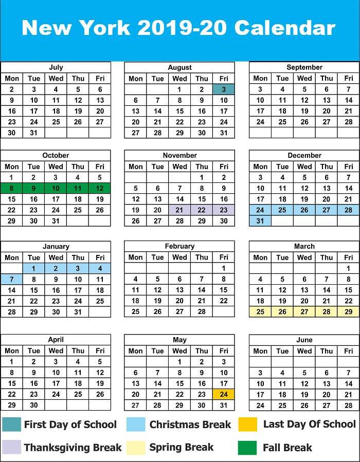 New York Public Holidays 2020 NYC School Holidays Calendar 2019 – 2020 | NYC School Calendar