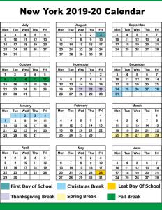 NYC School Term Date 2019
