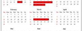 Hawaii School Calendar