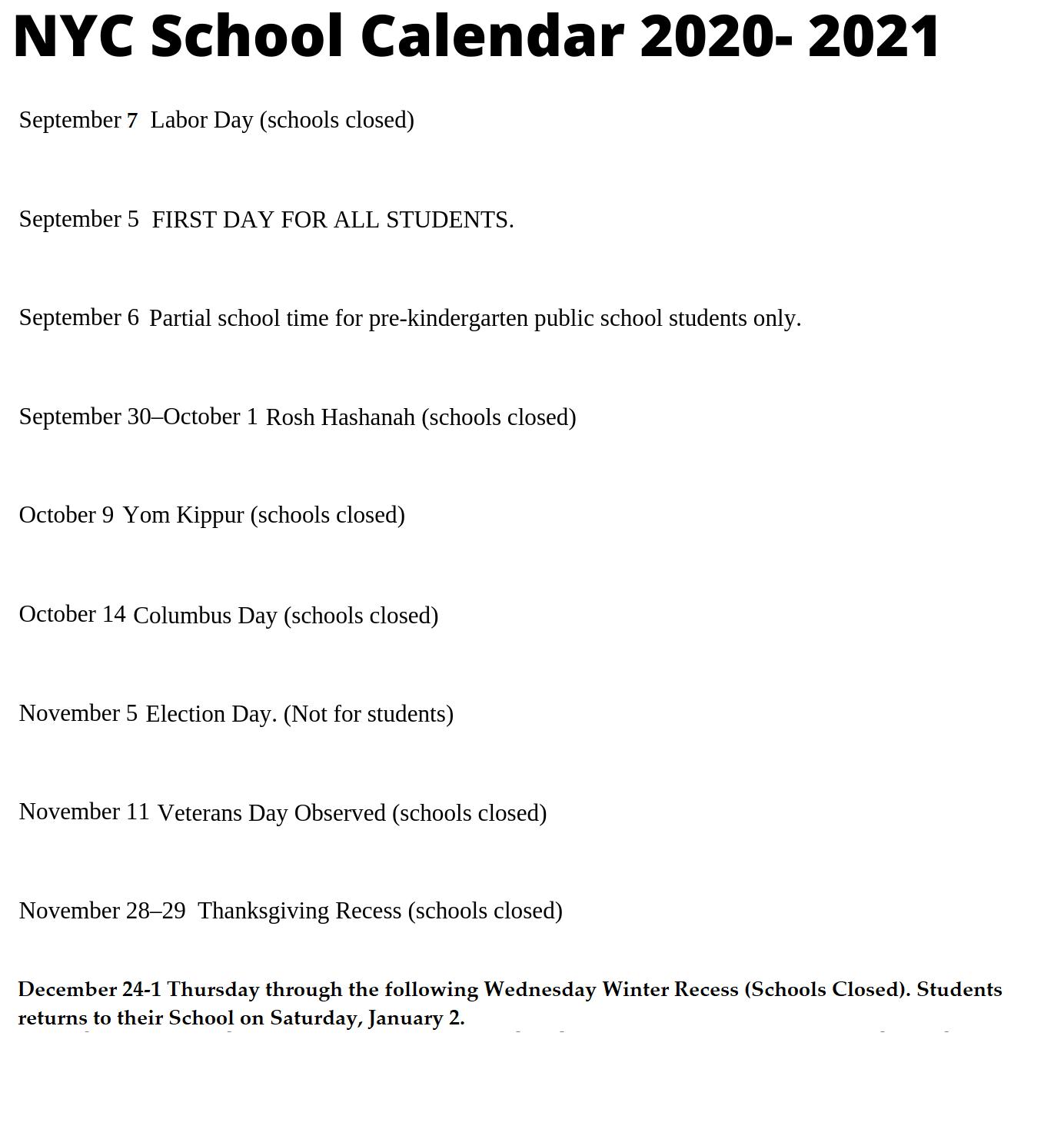 Nyc Doe 2020 2021 Calendar Wallpaper