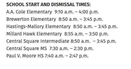 CSSD School Calendar