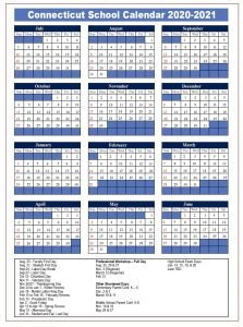 Connecticut School Calendar 2020