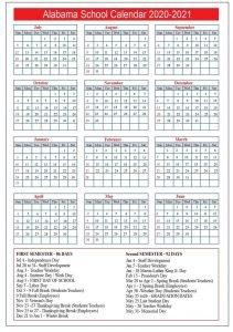 Florida Public School Calendar 2020
