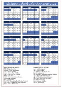 Florida School Calendar 2020- 2021